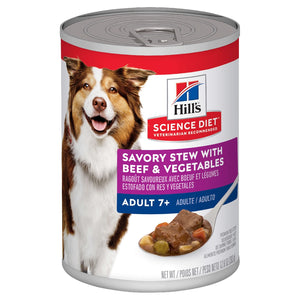 HILLS SCIENCE DIET DOG MATURE BEEF STEW 370G