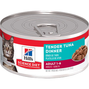 HILLS SCIENCE DIET CAT TENDER TUNA CAN 156G