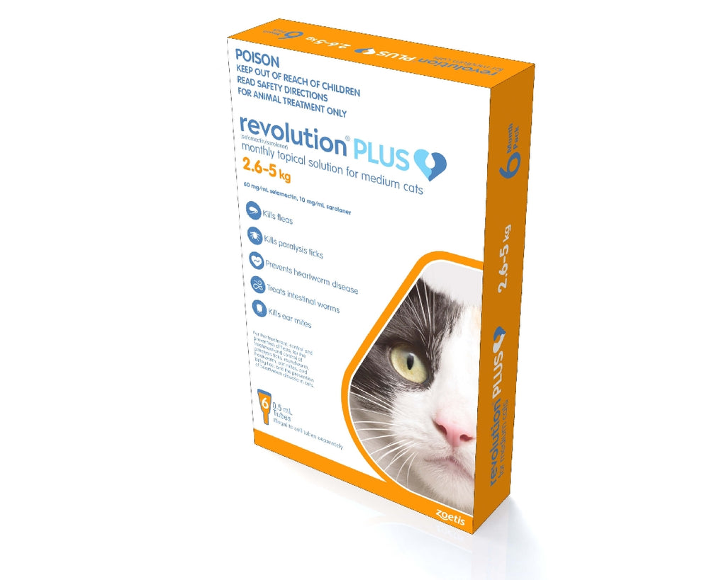 REVOLUTION PLUS CAT 2.5-5KG 6PACK