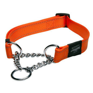 Rogz Lumberjack Choker Half Check Orange