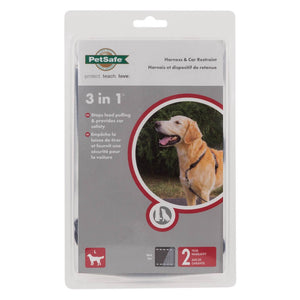Petsafe 3 In 1 Harness Blk Lge