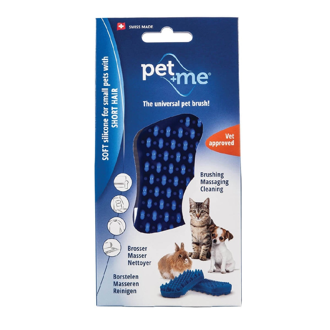 Pet&Me Blue Silicone Brush