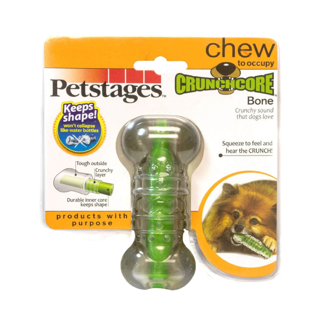 Petstages Crunchcore Dog Toy - Small