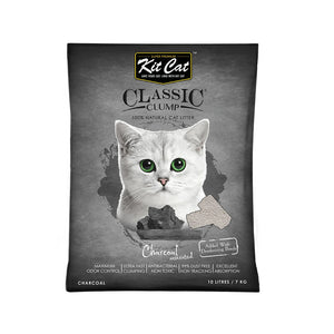 Kit Cat Bentonite Clump Litter Charcoal -7 kg (10 ltr)