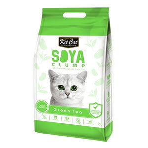 KITCAT SOYA CLUMPING LITTER GREEN TEA 7LT