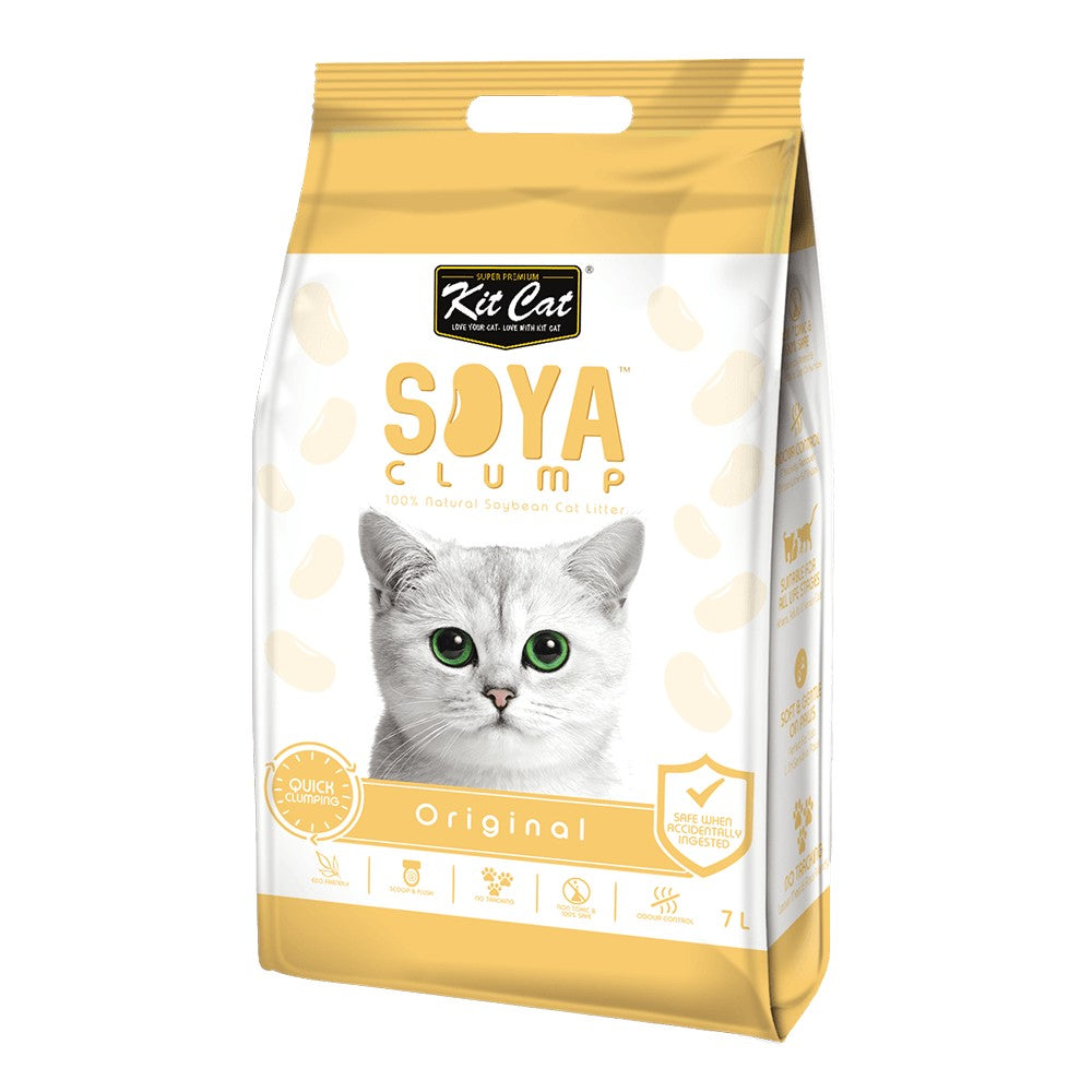 KITCAT SOYA CLUMPING LITTER ORIGINAL 7LT