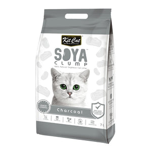 KITCAT SOYA CLUMPING LITTER CHARCOAL 7LT