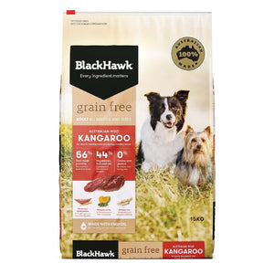 BLACK HAWK ADULT GRAIN FREE ROO 15KG
