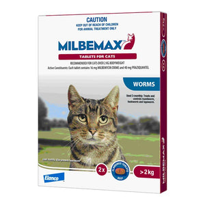 MILBEMAX LARGE CATS TAB 2'S