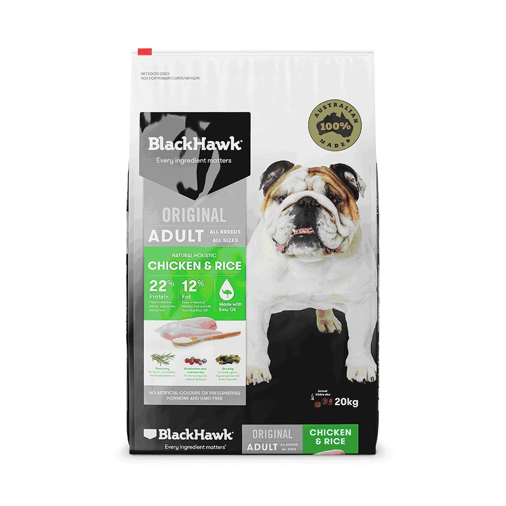 BLACK HAWK CHICKEN & RICE ADULT 20KG