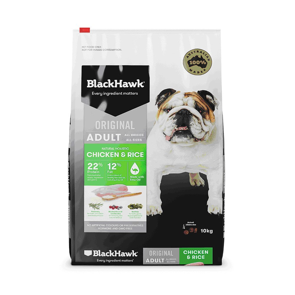 BLACK HAWK CHICKEN & RICE ADULT 10KG