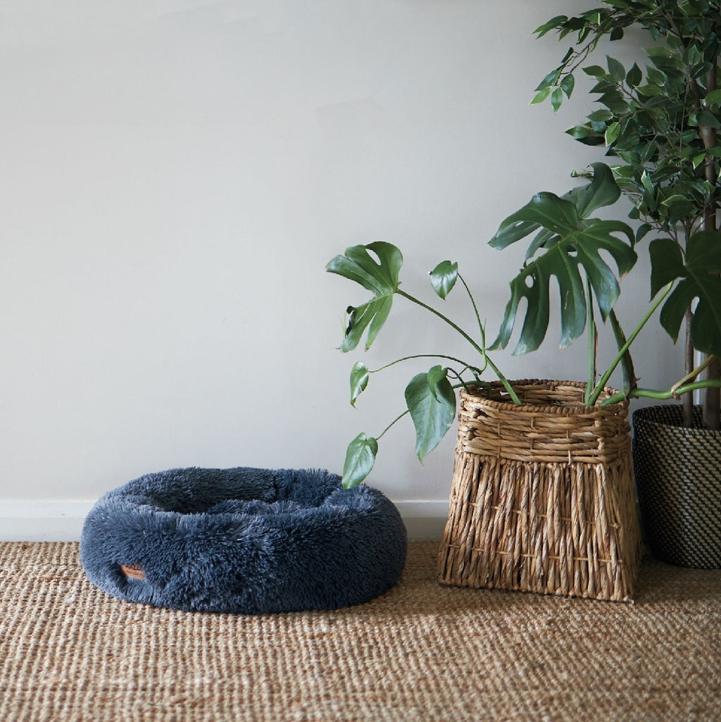 Peacock Bed Cloudy Blue Small