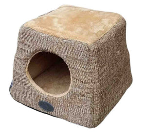 BONO FIDO HESSIAN PYRAMID BED IGLOO BEIGE