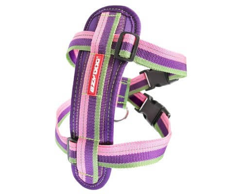 EZY DOG CHEST PLATE HARNESS BUBBLE GUM SMALL