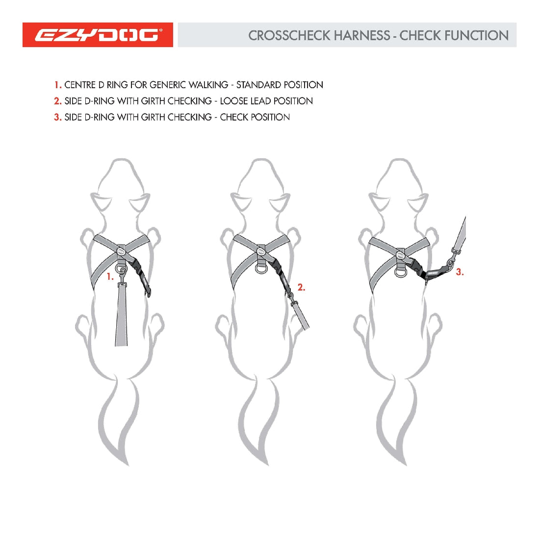 EZY DOG CROSS CHECK HARNESS LARGE BLACK