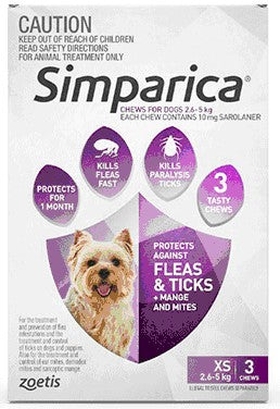 SIMPARICA PURPLE 3PK 2.6-5KG