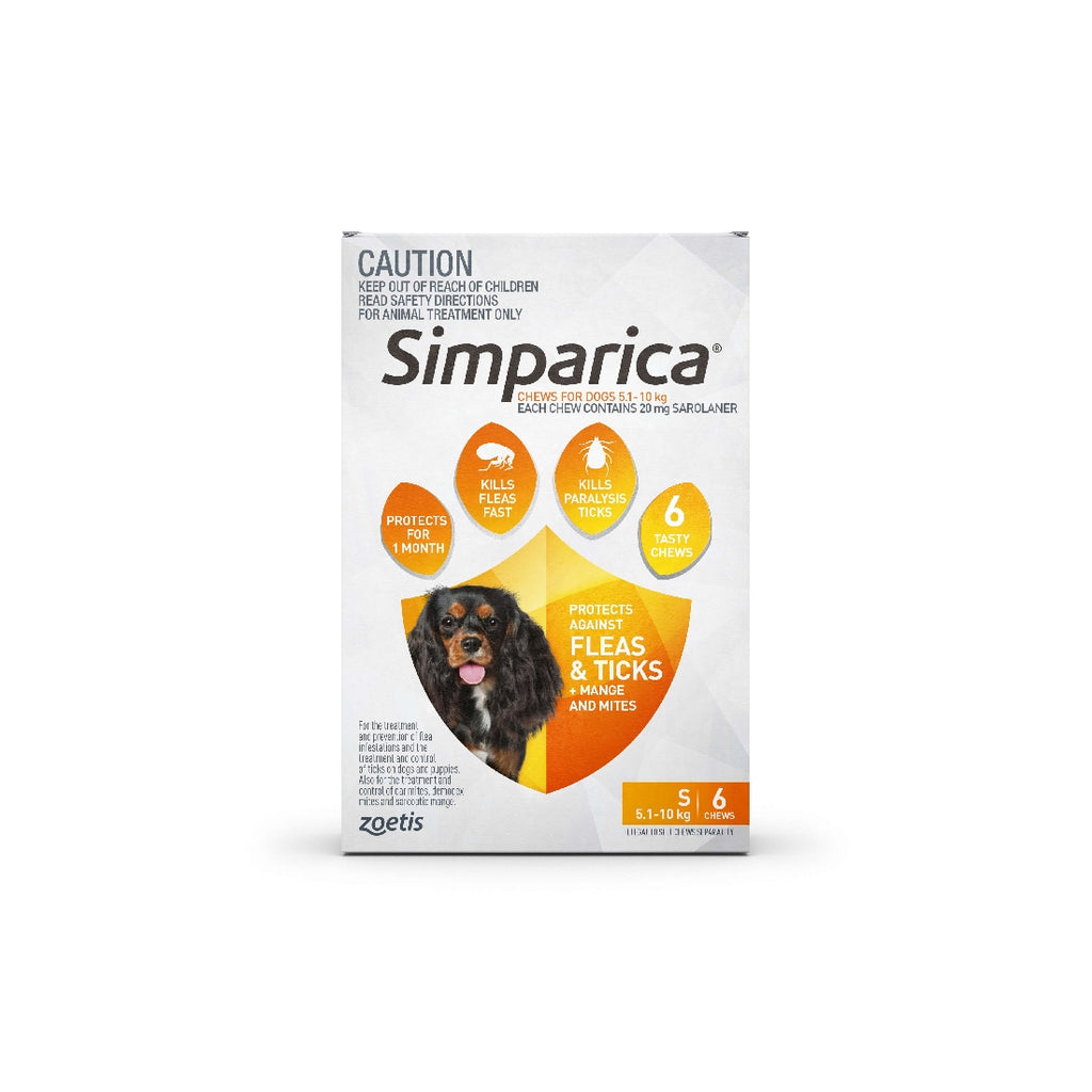 SIMPARICA YELLOW 5-10KG 6PK