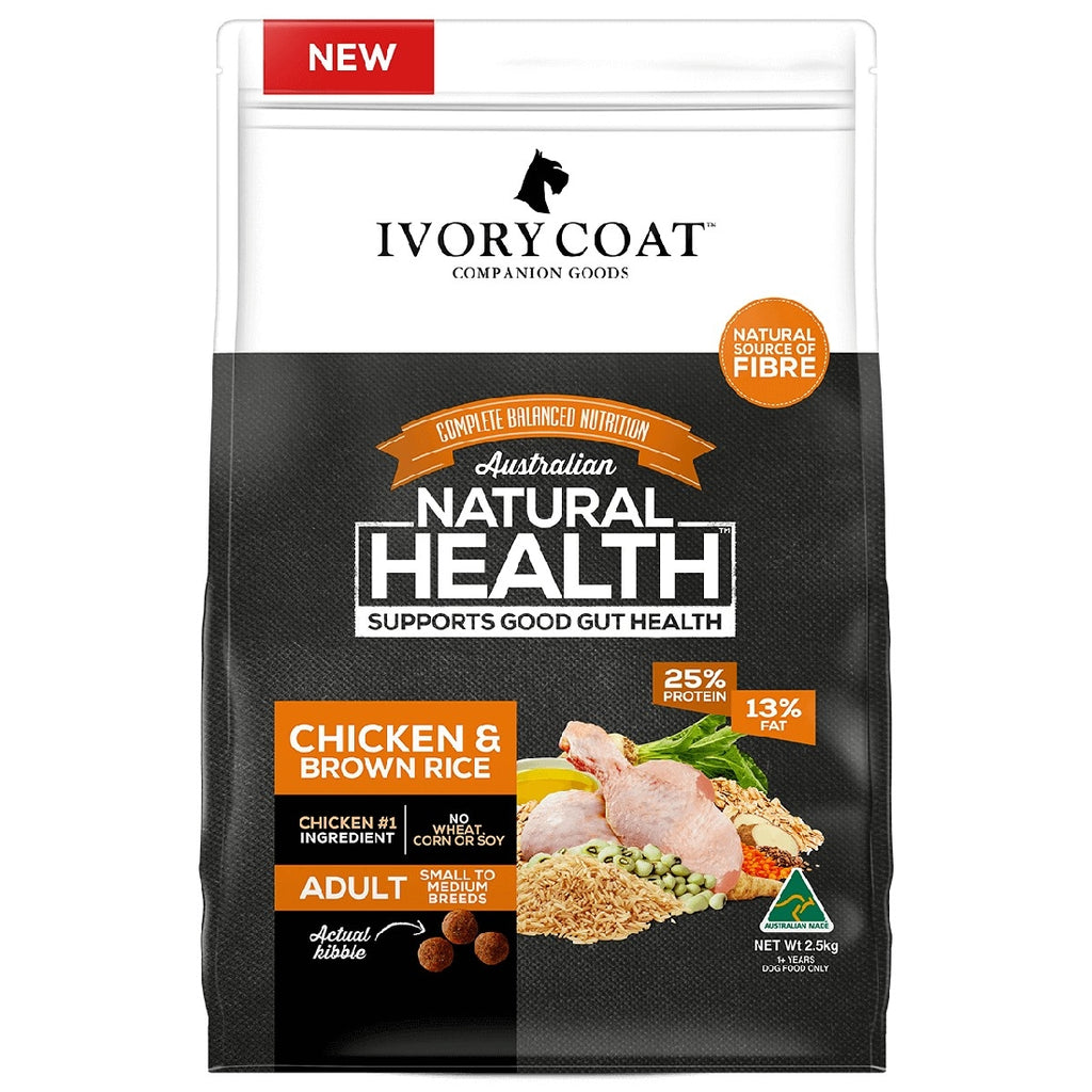 IVORY COAT CHICKEN AND BROWN RICE 2.5kg