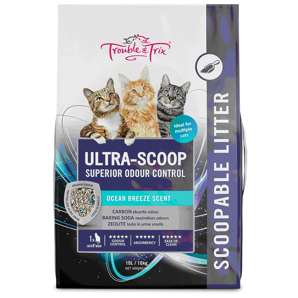 T&T ULTRA SCOOP OCEAN BREEZE LITTER 10LT