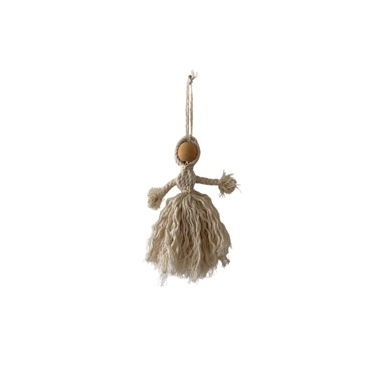 Handmade and Handwoven Christmas Angel Decoration - Common Thread Style