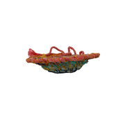 Handwoven Rainbow Coloured Bowl - Common Thread Style