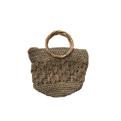 Handwoven Bag with Bamboo Handle - Common Thread Style