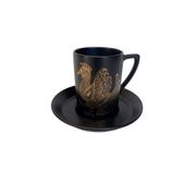 "Portmeirion ""Phoenix"" Black & Gold Coffee set. - Common Thread Style"