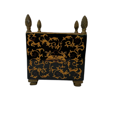 Vintage Black & Gold Hand Painted Planters - Common Thread Style