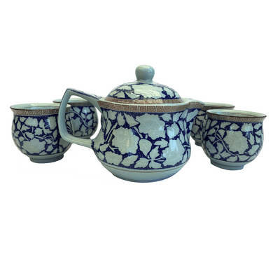 Chinese - Jingdezhen Kung Fu - Tea Set - Common Thread Style