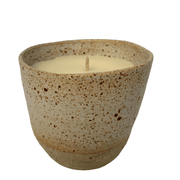 "Hand-poured ""Grapefruit Lime"" Soy Candle in Reusable Keeper Cup - Common Thread Style"