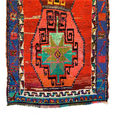 Authentic Anatolian Hand loomed, double knot, Kurdish Rug - Common Thread Style