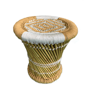 Decorative Jute Reed Stools - Common Thread Style