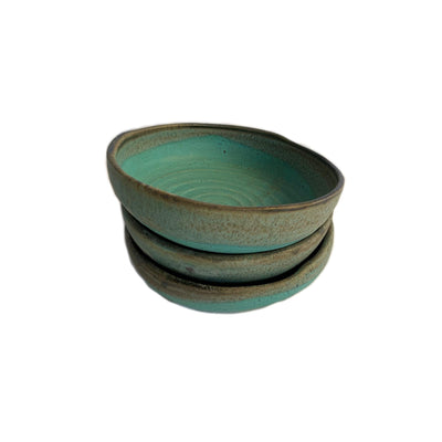 Handmade Pottery - The Aqua Everything Bowl - Common Thread Style
