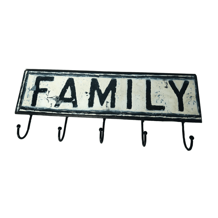"""Family"" 5 Hook Hanging Rack - Common Thread Style"