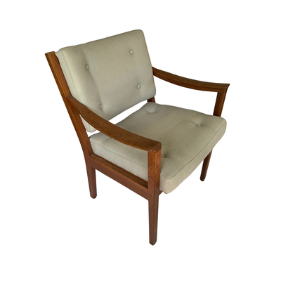 Pair of walnut frame W. H. Gunlocke chairs - Common Thread Style