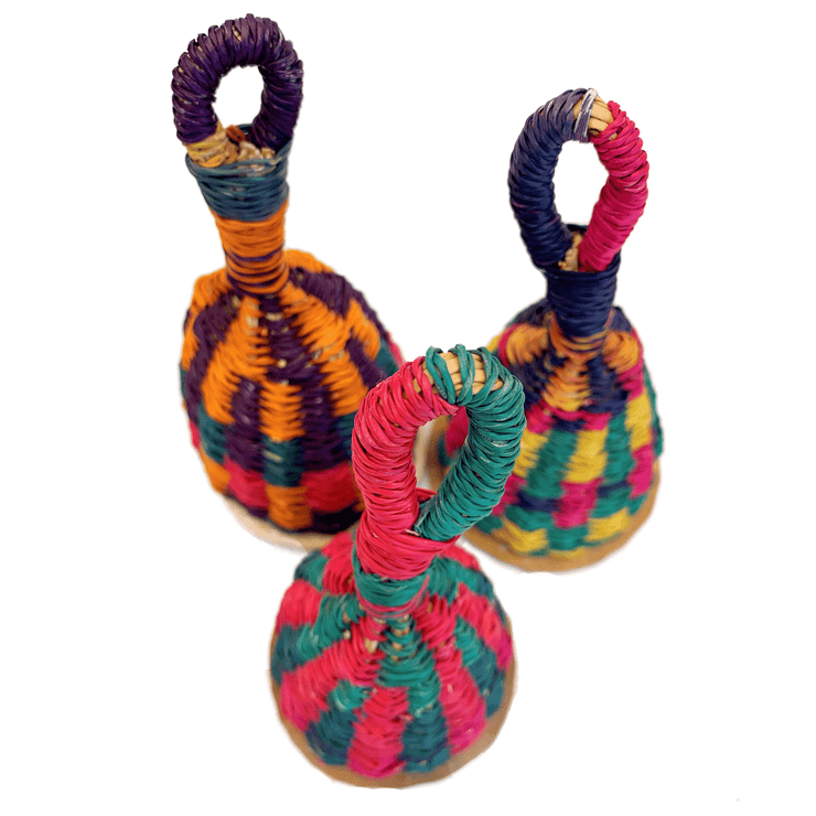 Decorative Caxixi Percussion Shakers - Common Thread Style