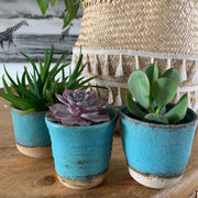 Handmade Pottery - Aqua Keeper Cup/Cactus Pot (Small) - Common Thread Style