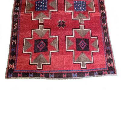 Hand Loomed, Double Knot, Wool Anatolian Kurdish Rug - Common Thread Style