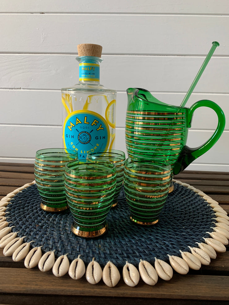 Vintage Jug & Matching Glasses. - Common Thread Style