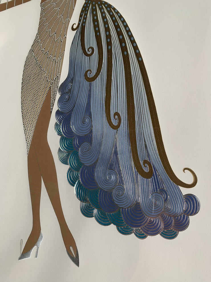 Erté Serigraph Print, Numbered 181/300 - Common Thread Style
