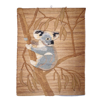 Koala Vintage Latch Hook and Jute Handmade Wall Hanging - Common Thread Style