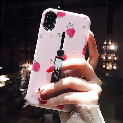 Hide Ring Stand Holder Case For iPhone