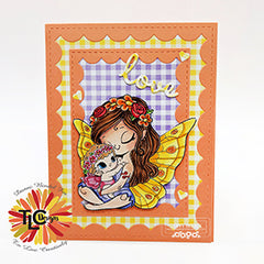 Danni Bindel Blessings card project for announcement at TLC Designs Shop