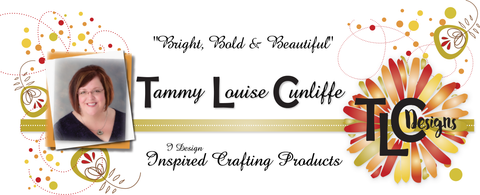 Picture and Logo artboard for TLCDesigns.shop where custom designed papercrafting products are sold