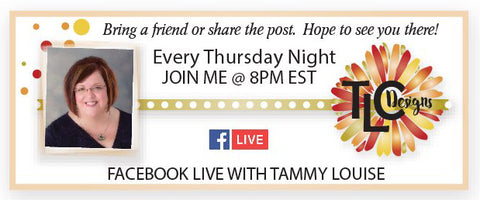 TLCDesigns.shop graphic for the Streaming Live by Tammy Louise