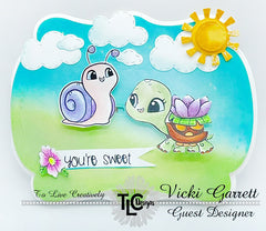 Vicki Gee project with Turtle-icious Stamps by TLC Designs Shop for Guest Designer announcement