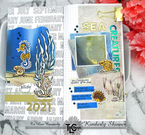 It's memo time at TLCDesigns.shop!  The digital stamps in the Seahorse Samm stamp set are perfect for any project!  Even documenting and adding to you notebooks and calendars!