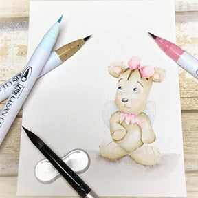 It's all about the no line coloring by Kassi Hulet! This Fairily Furry Jazz digi stamp from TLCDesigns.shop is simply the sweetest most delicate looking piece of artwork!