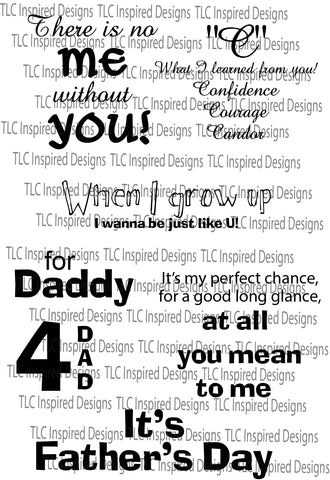 JUST 4 DAD DIGITAL SENTIMENT SET