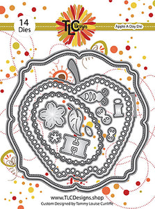 Build an apple shaped card with a darling little bumble bee die set called Apple A Day Die from TLCDesigns